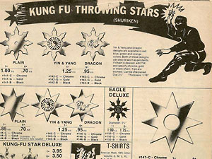 The oldest days of the Shuriken trade